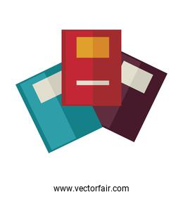 books education supplies isolated icons
