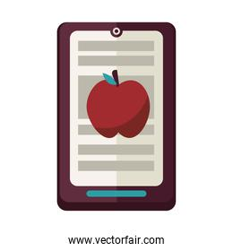 electronic book in tablet with apple