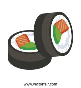 delicious sushi silhouette style icon
