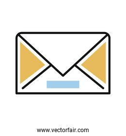 envelope mail line and fill style icon