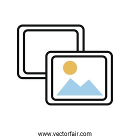 pictures files line and fill style icon