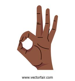 afro hand human aproved symbol gesture icon