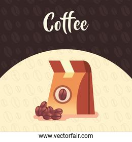 coffee bag with beans