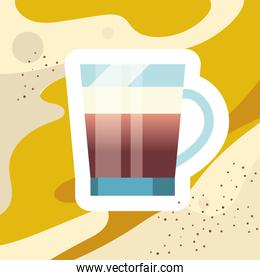 coffee glass cup vector design