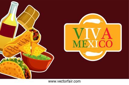mexican food restaurant poster with lettering and menu