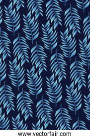 tropical blue leafs pattern background