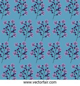 branches with flowers pattern background