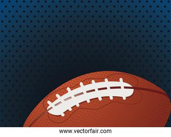 football american sport equipment in dotted background
