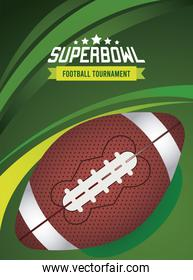 super bowl championship lettering poster with balloon