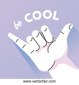 hand human cool symbol gesture and lettering