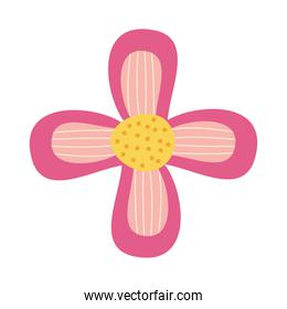 pink beautiful flower icon, colorful design