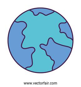 earth planet icon, flat style