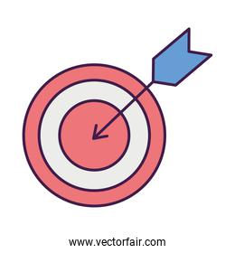 target with arrow, flat style