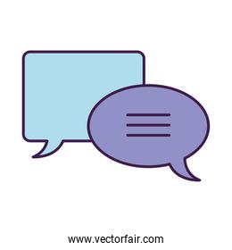 speech bubbles icon, flat style