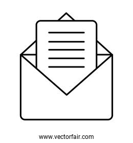 envelope and card icon, line style