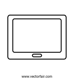 tablet device icon, line style