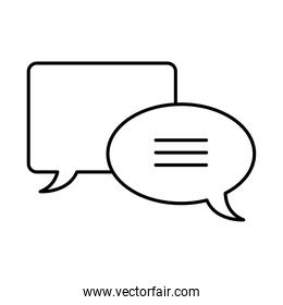 speech bubbles icon, line style