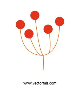 red branch with seeds nature foliage icon