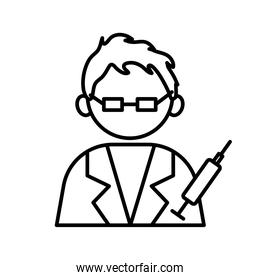 profession doctor worker avatar line style icon