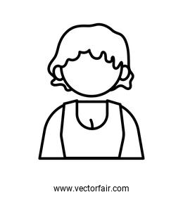 profession business girl worker avatar line style icon