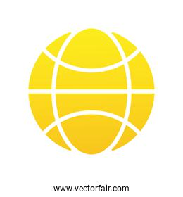 sphere browser silhouette style icon