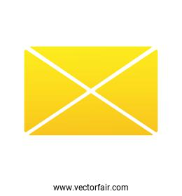 envelope mail silhouette style icon