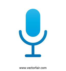 microphone audio silhouette style icon