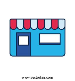 store front flat style icon