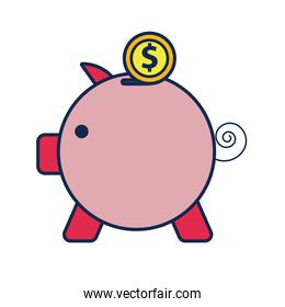 piggy savings flat style icon