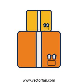 boxes carton delivery service flat style icon