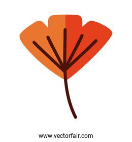 leaf line and fill style icon isolated vector design