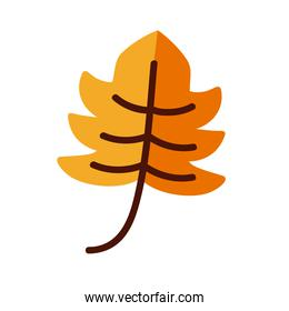 floral leaf line and fill style icon vector design