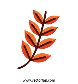 leaf with eight leaves line and fill style icon isolated vector design