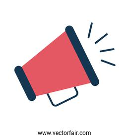 megaphone flat style icon isolated vector design