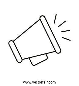 megaphone line style icon isolated vector design