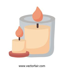 candles icon isolated vector design