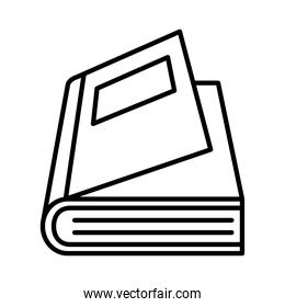 open book with label line style icon vector design