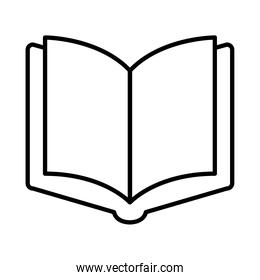 open book in blank line style icon vector design