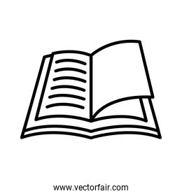 open book line style icon isolated vector design