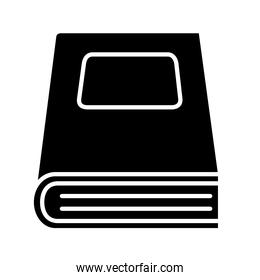 closed book silhouette style icon isolated vector design