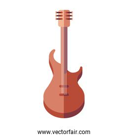 electric guitar instrument icon vector design