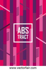 Abstract background design with pink lines