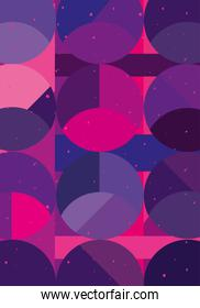Abstract background design with pink and purple bubbles
