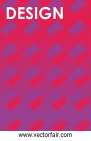 Abstract pink and purple background design with cubes