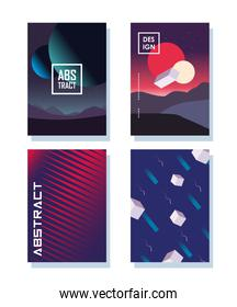 Abstract backgrounds icon bundle designs