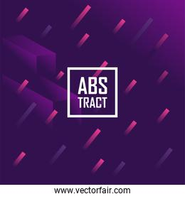 Abstract purple background design with pink lines
