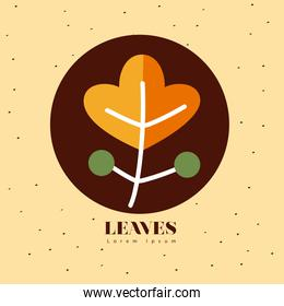leaves line style icons vector design