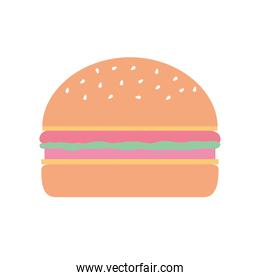 burger with cheese on a white background