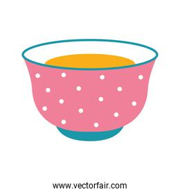 cup of tea with a pink color and dots