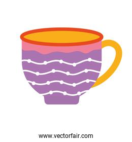 cup of tea with a purple color and dots
